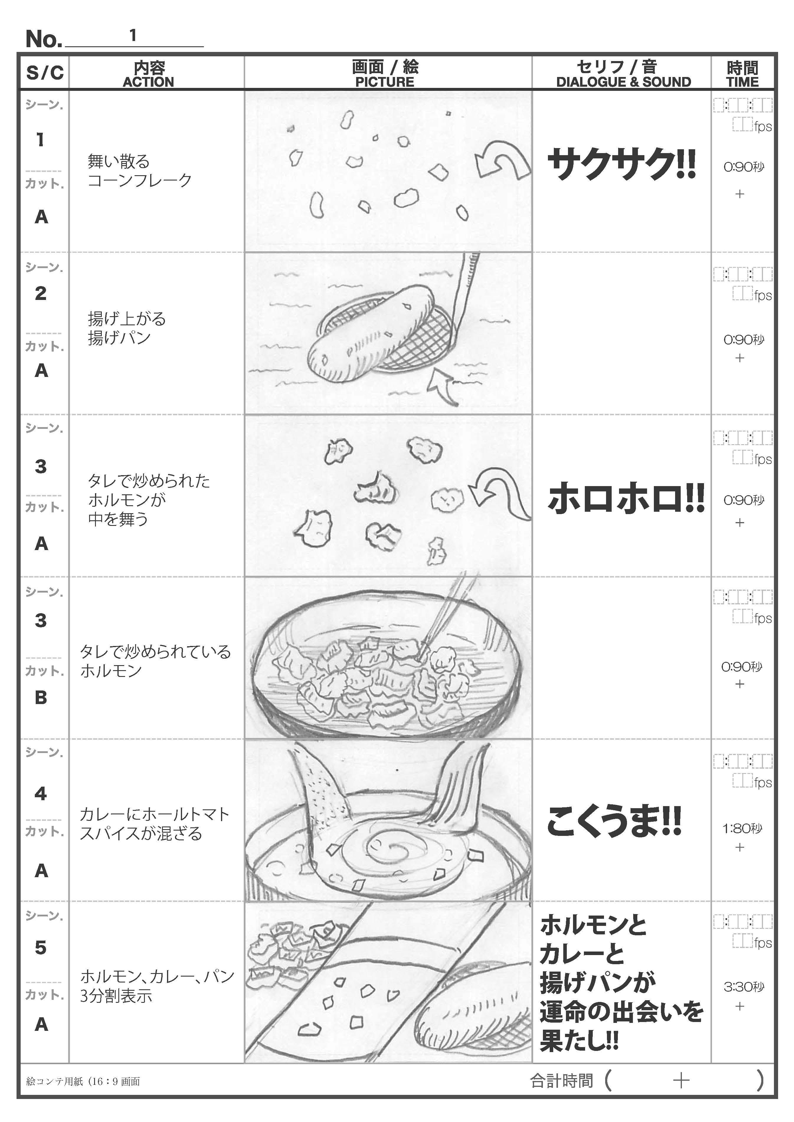 CM絵コンテ めちゃホルモンカレーパン篇_ページ_1